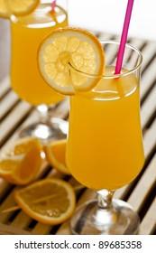 Photograph of Orange Juice Glasses