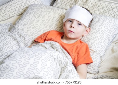 photograph of a patient with influenza,at home.