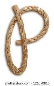 Photograph of Rope Letter P