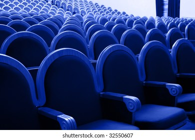 Photograph of the Rows of theatre seats