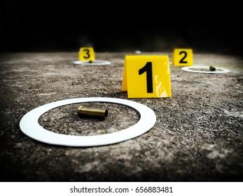 Photograph scene of evidence examination