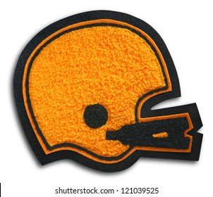 Photograph of School Sports Football Patch - Helmet