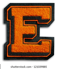 Photograph of School Sports Letter - Black and Orange E