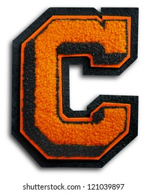 Photograph of School Sports Letter - Black and Orange C