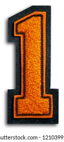 Photograph of School Sports Letter - Black and Orange 1