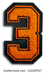 Photograph of School Sports Letter - Black and Orange 3