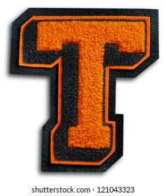 Photograph of School Sports Letter - Black and Orange T