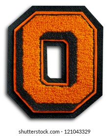 Photograph of School Sports Letter - Black and Orange O