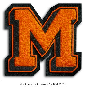 Photograph of School Sports Letter - Black and Orange M