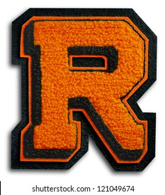 Photograph of School Sports Letter - Black and Orange R