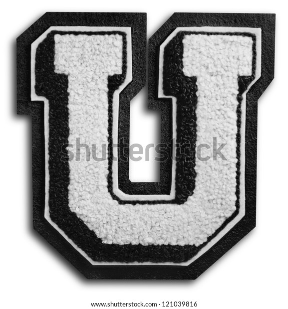 Photograph of School Sports Letter - Black and White U