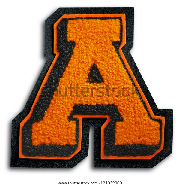 Photograph of School Sports Letter - Black and Orange A