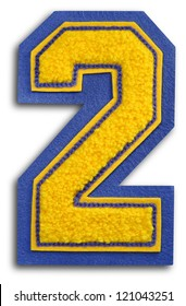 Photograph of School Sports Letter - Blue and Yellow 2