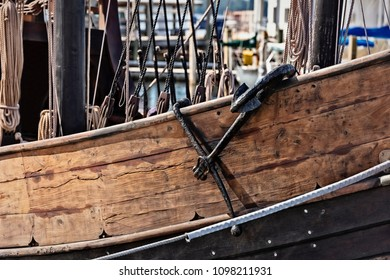 photograph of side of standard caravel-type vessel of the 15th century