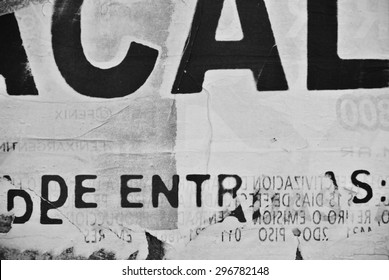Photograph of urban random texture on eroded wall background