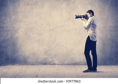 Photograph using a reflex camera