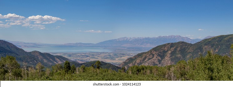 Photograph of the Utah Valley taken from Mount Nebo Scenic Byway in Utah.