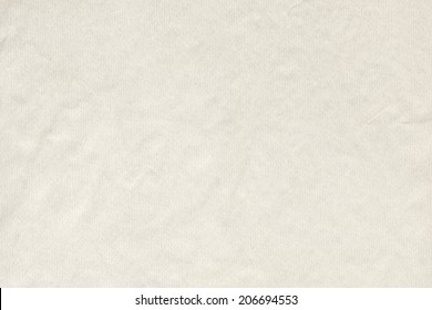 Photograph of watercolor paper, Off White, coarse grain, crumpled, grunge texture sample