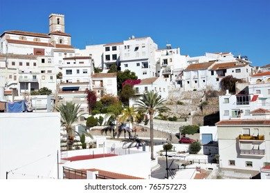 Photograph of Salobreña, white village of Granada, in the Mediterranean, Andalusia, Spain,