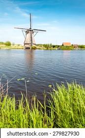 Photograph of Windmills in Kinderdijk, Holland