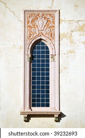 A photograph of a window from a historic Oklahoma building.