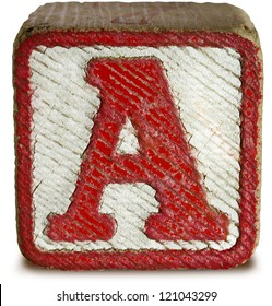 Photograph of Wooden Block Letter A