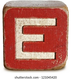 Photograph of Wooden Block Letter E