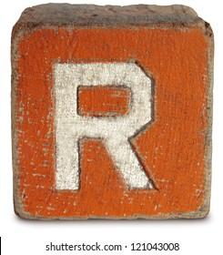 Photograph Of Wooden Block Letter R