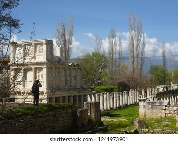 Photographer in Afrodisias ancient city