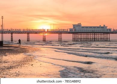 Photographer Captures Sunrise Behind Worthing Pier