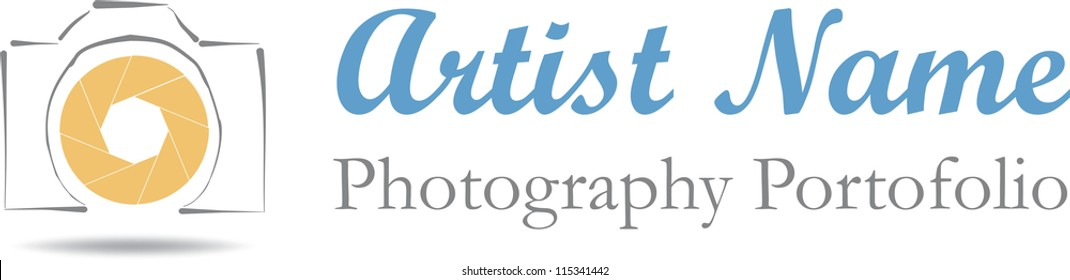 Photographer logo isolated  file available