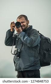 a photographer named Eko Prabowo stylish with his camera at Bandung, Nopember 4, 2018