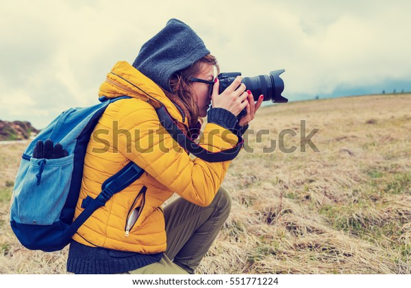 Photographer in nature.