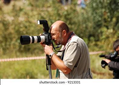 photographer on races Nemiroff trophy.