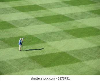Photographer on sports field