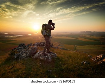 photographer outdoor during sunset