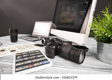 photographer photographic photograph journalist camera traveling photo dslr editing edit hobbies lighting concept - stock image