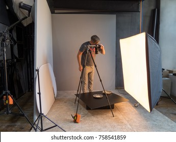 photographer photographing in the studio. unintended photography