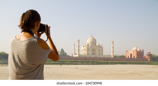 Photographer at Taj Mahal