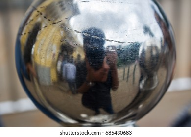 Photographer taking a photo of himself