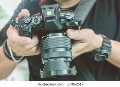 Photographer Taking A Photo Shoot (Vintage Style)