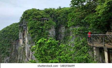 photographer taking photo themountain. The Zhangjiajie National Forest Park