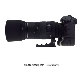 Photographic equipment isolated against a white background