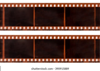 photographic film on white background