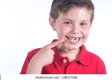 photographic portrait of a child who has lost a tooth