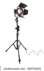 Photographic studio light on a white background
