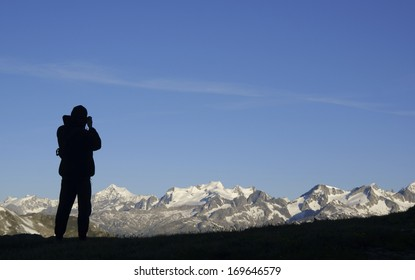 Photographing Bernese Alps in the Bernese Oberland, Switzerland