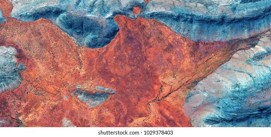 photographs of abstract landscapes of the deserts of Africa from the air,Photographs magic, just to crazy, artistic, landscapes of your mind, optical illusions, abstract art, red, oxide,