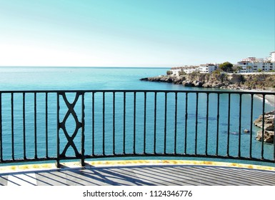 photography from the balcony of Europe, Mediterranean Sea, Nerja, Málaga, Spain,peace, calm, serenity, harmony, fullness, well-being, nature, natural, contemplate, meditate, breathe, grow, happiness,