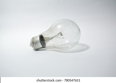Photography of bulb object on the white background